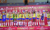Brazil claim record 12th FIVB World Volleyball GP win in Nanjing
