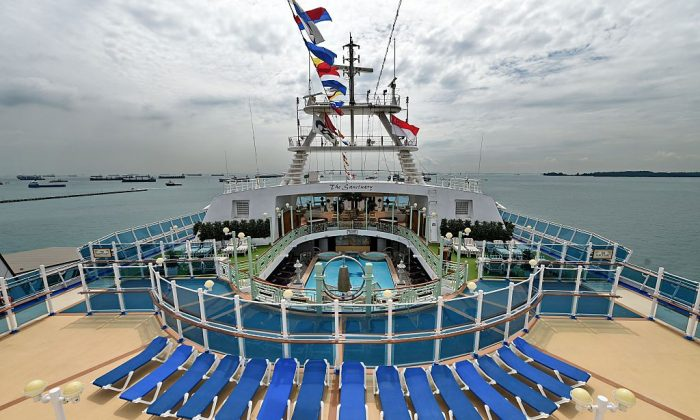 A view from the top deck of a Princess Cruises cruise ship before its departure.  (ROSLAN RAHMAN/AFP/Getty Images)