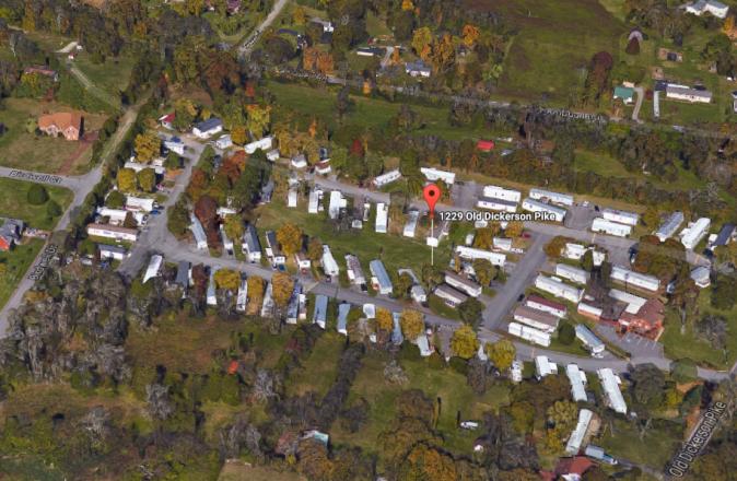 Trailer park in Goodlettsville, Tenn., where Yhoana Artega was murdered on Aug. 10, 2017. (Google Earth)