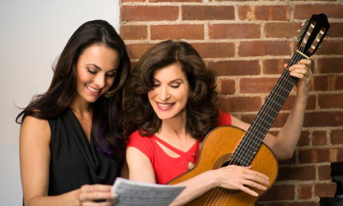 (L–R) Mezzo-soprano Isabel Leonard and classical guitarist Sharon Isbin. (H. Henry Fair)