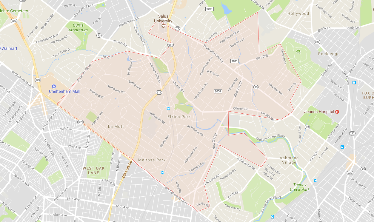 Elkins Park (Google Maps)