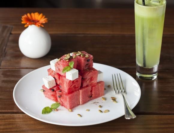 Coffeemania's watermelon salad. (Courtesy of Coffeemania)