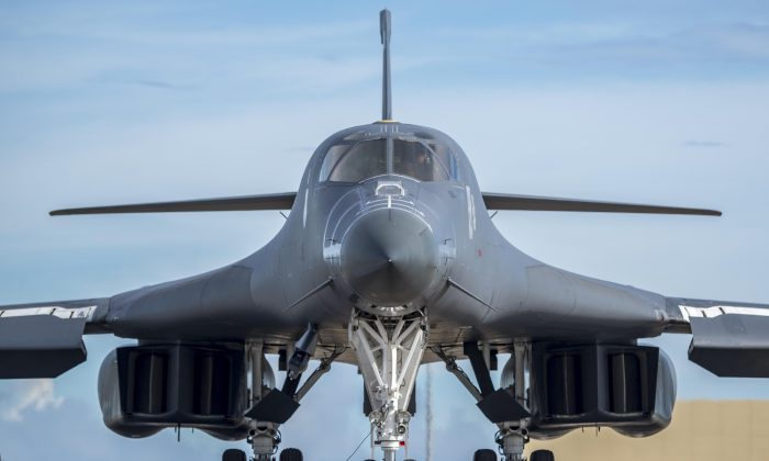 A U.S. Air Force B-1B Lancer assigned to the 37th Expeditionary Bomb Squadron in this file photo. (U.S. Air Force photo/ Airman 1st Class Christopher Quail)
