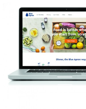 Website of Blue Apron, an ingredient-and-recipe meal kit service. (SHUTTERSTOCK; THE EPOCH TIMES)