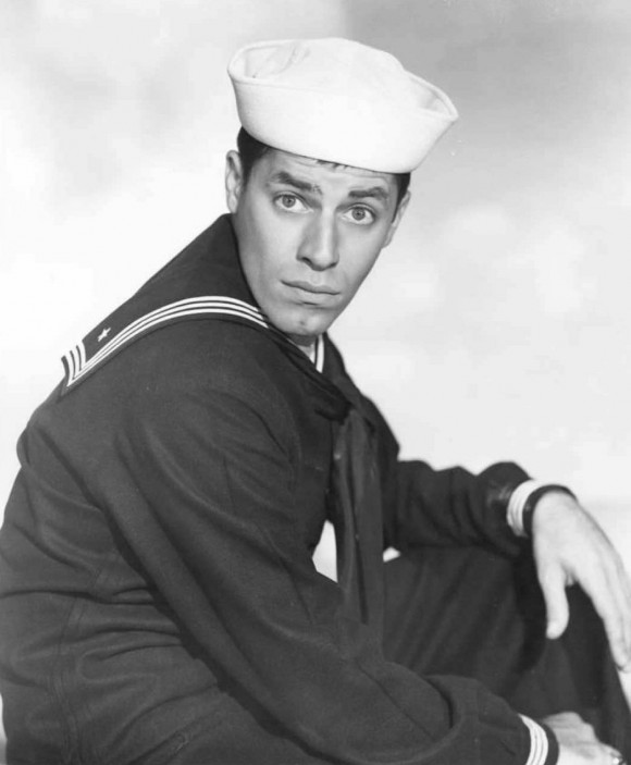 "U.S. comedian and actor Jerry Lewis in the 1951 movie ""Sailor Beware.""  (FILES/AFP/Getty Images)"