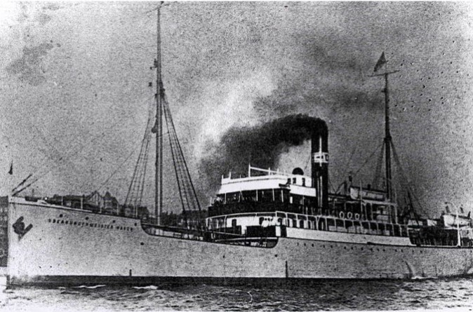 "The ""Oberburgermeister Haken,"" one of the small passenger ships that were used on routes that connected the harbors of the Baltic Sea, and which were used as ""Philosopher's Ships"" in this undated file photo. (Public Domain)"