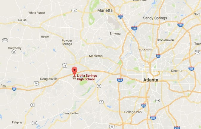 Douglas County Sheriff's authorities said that a  Lithia Springs High School teacher shot himself in the head on Thursday morning before students arrived, WSB-TV reported. (Google Maps)