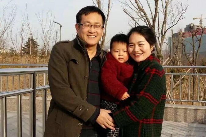Wang Quanzhang, with his wife Li Wenzu and son. Wang was detained in August 2015, and hasn't been seen since. (Courtesy of Wang Quanzhang's family)