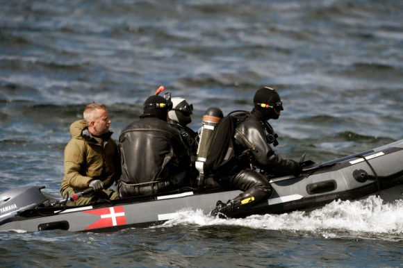 Divers from the Danish Defence Command preparing for a dive in Koge Bugt near Amager in Copenhagen on August 22, 2017 where a woman torso was found yesterday.      A Swedish journalist, Kim Wall, went missing after going sailing with the submarine, UC3 Nautilus, on August 10. (LISELOTTE SABROE/AFP/Getty Images)