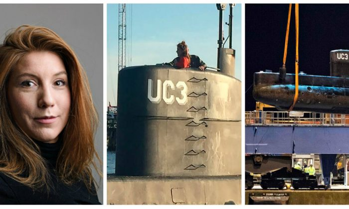 Kim Wall (L) and the Nautilus UC3 homemade submarine she was killed in on Aug. 10. (Getty Images / Reuters)