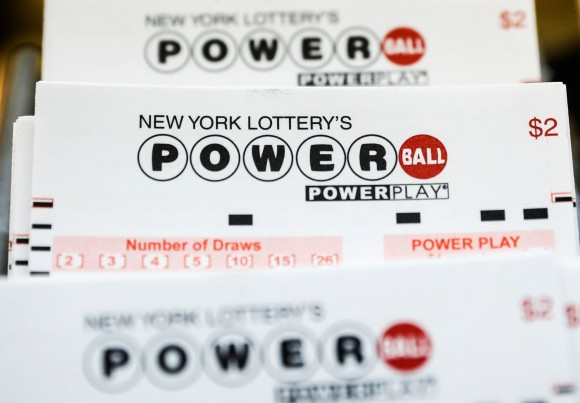 New York Lottery Powerball tickets are displayed in a store in New York City, U.S. on August 22, 2017. (REUTERS/Brendan McDermid)