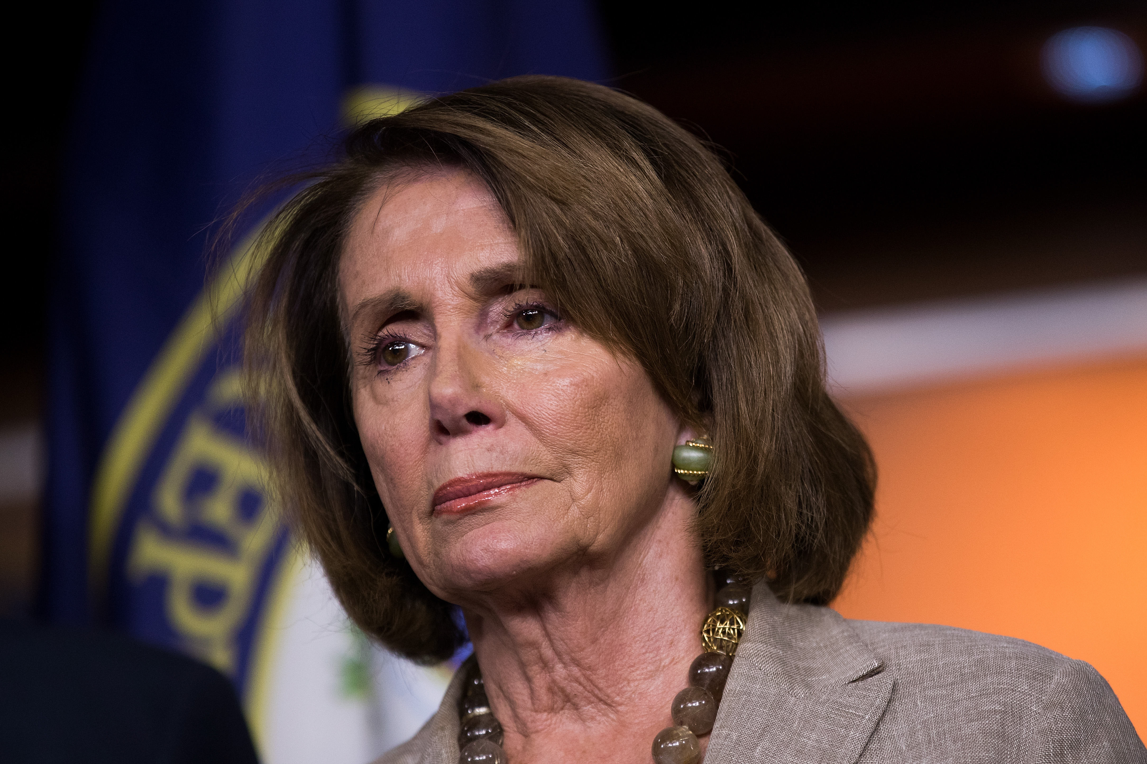 House Minority Leader Nancy Pelosi (D-CA) on Capitol Hill on July 28, 2017. Pelosi condemned the Antifa extremist group in a statement on Aug. 29. (Drew Angerer/Getty Images)