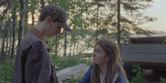 """Shirley Henderson as Judy and Théodore Pellerin as her son Jamie in """"Never Steady, Never Still."""""""