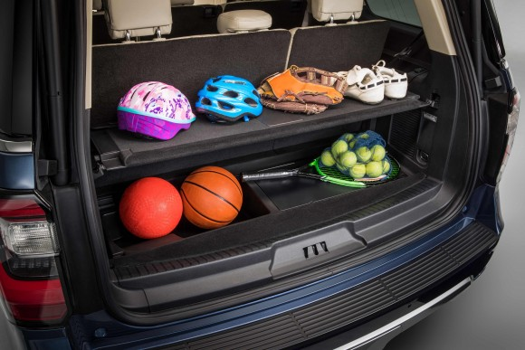 Versatile storage space. (Courtesy of Ford)