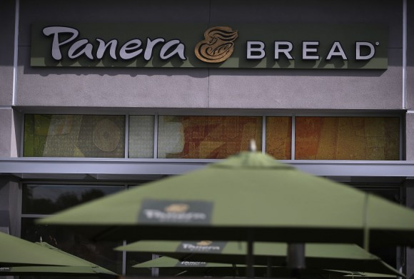 A view of a Panera Bread restaurant on April 5, 2017 in Daly City, California. Investment firm JAB Holding Co. announced plans to purchase Panera Bread Co. for $315 per share in a cash deal estimated at $7.5 billion. (Photo by Justin Sullivan/Getty Images)
