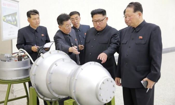 North Korean leader Kim Jong Un provides guidance on a nuclear weapons program in this undated photo released by North Korea's Korean Central News Agency (KCNA) in Pyongyang September 3, 2017. (KCNA via REUTERS)