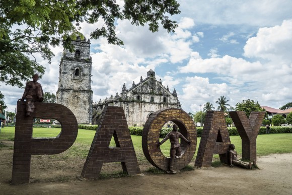 Saint Augustine Church and its bell tower in Paoay. (Mohammad Reza Amerinia)