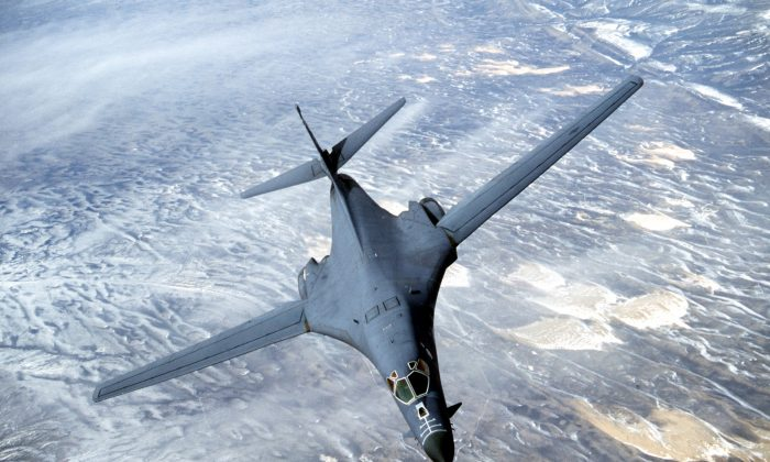 A B-1B long range strategic bomber in a file photo. (Courtesy USAF/Getty Images)