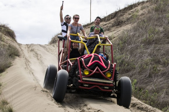 Four-by-four fun at La Paz Sand Dunes. (Mohammad Reza Amerinia)