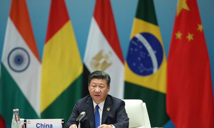 Chinese President Xi Jinping in Xiamen, southeastern China's Fujian Province, on Sept. 5, 2017. (WU HONG/AFP/Getty Images)