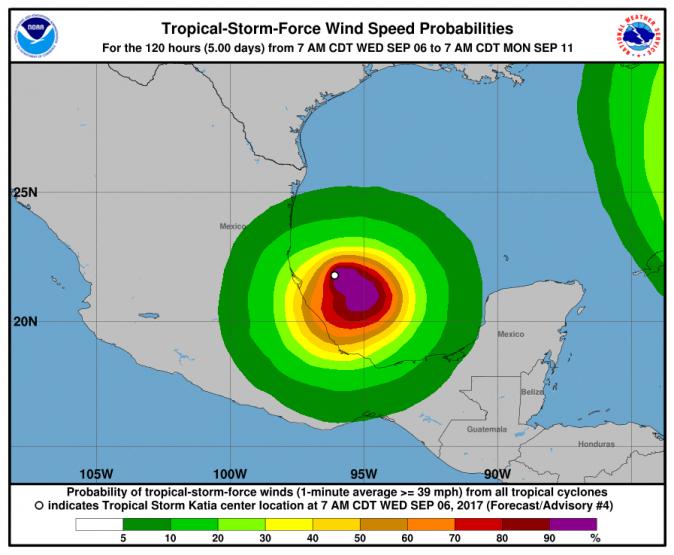 Tropical Storm Katia (NOAA)