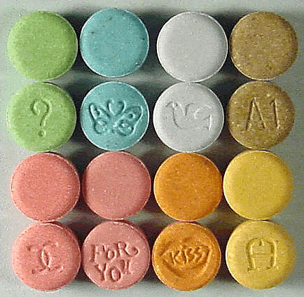 Ecstasy tablets which may contain MDMA (DEA)