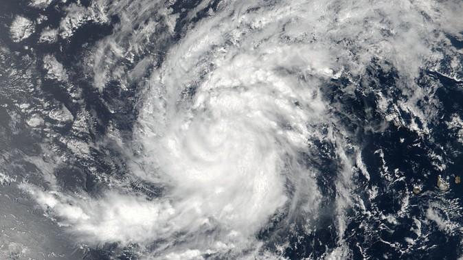 Satellite image of Tropical Storm Irma pictured here in the Eastern Atlantic Ocean on Aug. 30, 2017.  (NASA/NOAA /Goddard Rapid Response Team/Handout via REUTERS)