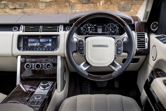 Looking from the driver's seat of the European model. (Courtesy of Land Rover)