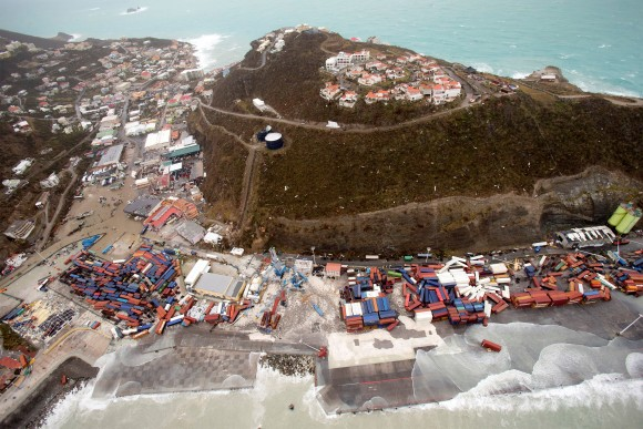 The aftermath of Hurricane Irma on Saint Martin. (Netherlands Ministry of Defense/via REUTERS)