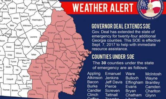 Georgia Mandatory Evacuations Ordered For Coastal Areas Ahead Of