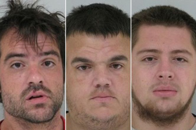 Thomas Barker, Joshua Holby and Steven Powers are accused of holding the girl captive for a month. She then escaped when they left her alone. (Alexandria Police Department)