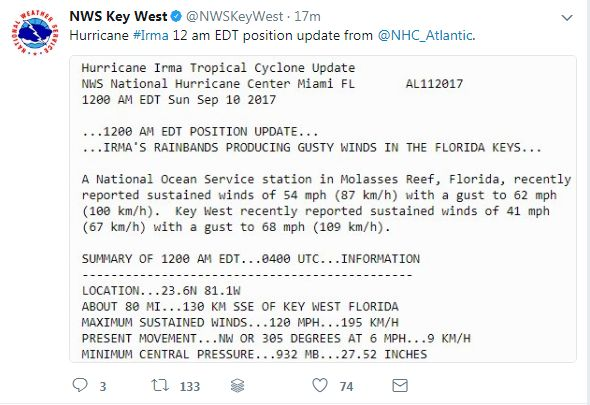 (Screenshot/NWSKeyWest)