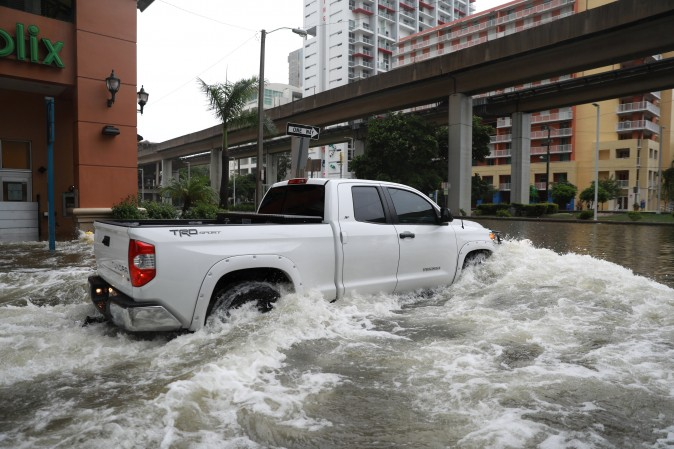 Flooding in the Brickell neighborhood as Hurricane Irma passes Miami, Florida, U.S. September 10, 2017. (REUTERS/Stephen Yang)