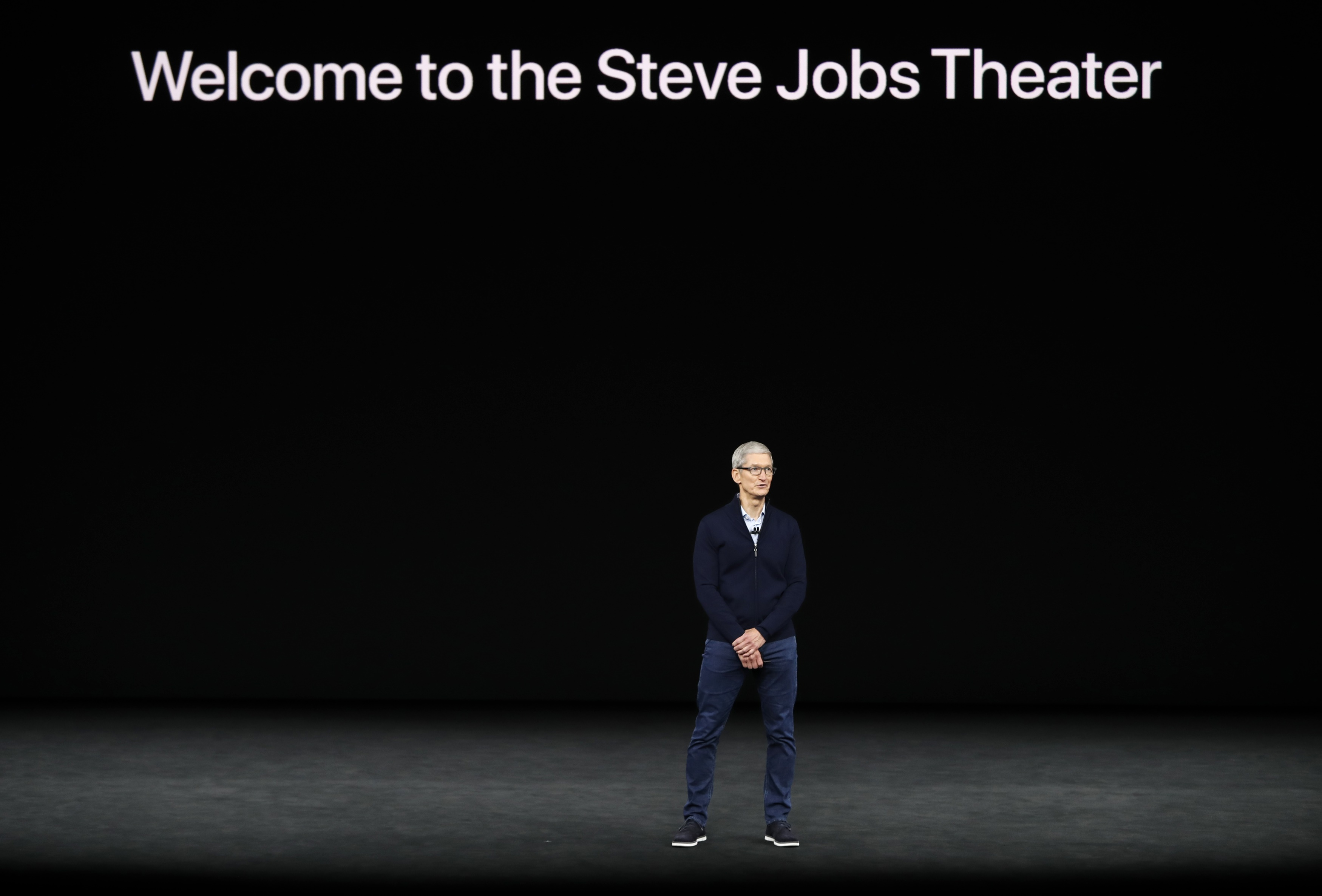 Tim Cook, CEO of Apple, speaks during a product launch event in Cupertino, Calif., on Sept. 12, 2017. (REUTERS/Stephen Lam)