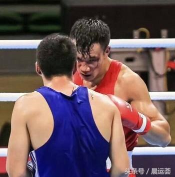 Wen Yinhang and Tangtilahan at the boxing match on Aug. 13. (WeChat)