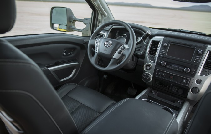 The interior of the 2017 Titan XD. (Courtesy of Nissan)