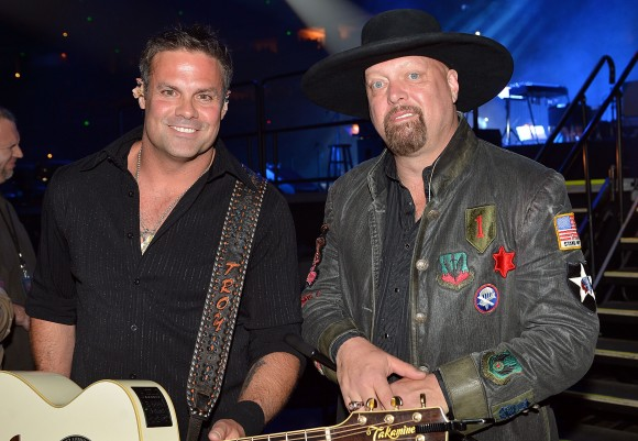Troy Gentry and Eddie Montgomery of Montgomery Gentry attend Keith Urban's Fourth annual We're All For The Hall benefit concert at Bridgestone Arena on April 16, 2013 in Nashville, Tennessee. (Rick Diamond/Getty Images for the Country Music Hall of Fame and Museum)