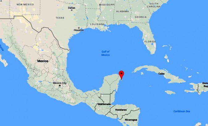 The ship is stationed in Cozumel, Mexico. A report says that 4,000 passengers were stuck on the cruise ship and were waiting to go home. (Google Maps)
