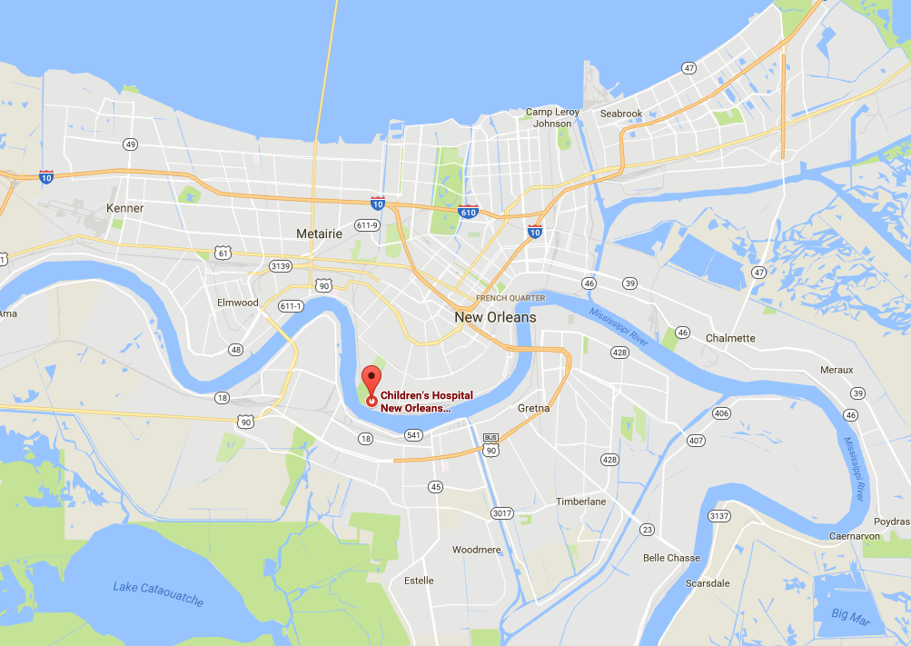 Children's Hospital of New Orleans. (Screenshot via Google Maps)