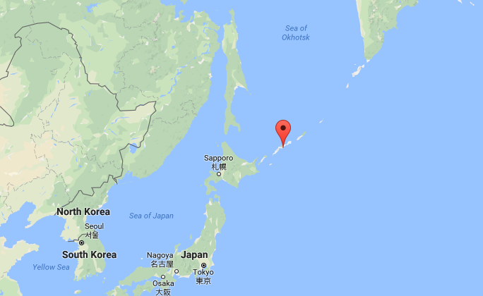 Approximate location where a giant Ocean sunfish was caught on Sept. 9, 2017. (Screenshot via Google Maps)