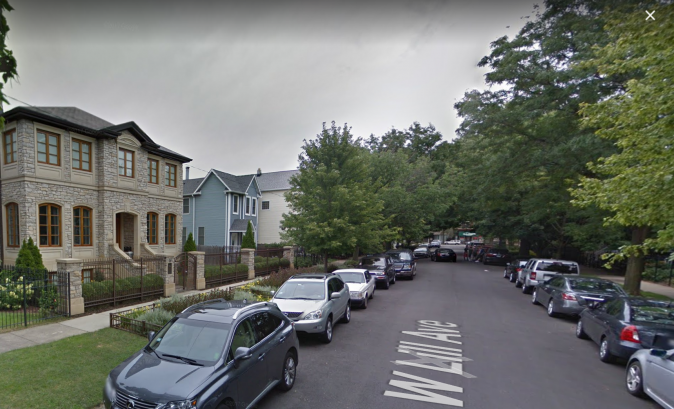 The teens robbed the woman in broad daylight in the 1400 block of West Lill Street, shown here. (Screenshot via Google Maps)