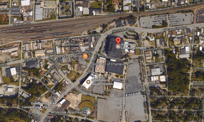 The Greensboro Coliseum Complex that held the Central Carolina Fair. (Screenshot via Google Maps)