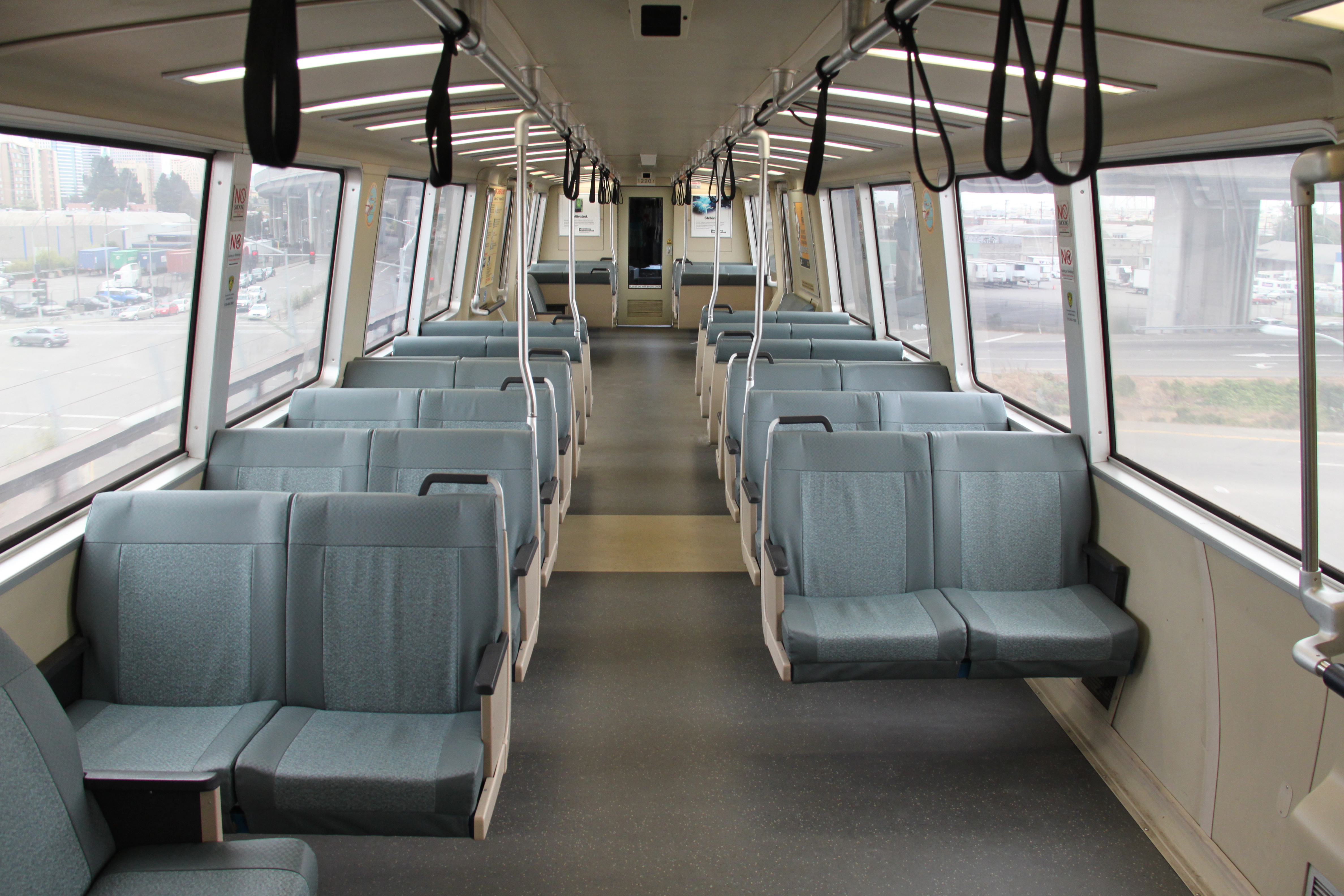 Interior of a BART train. (Maurits90/CC0 1.0)