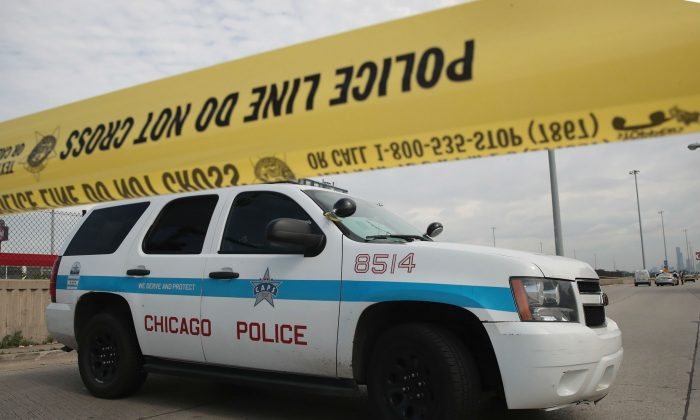 A police car in Chicago on June 30, 2017. (Scott Olson/Getty Images)