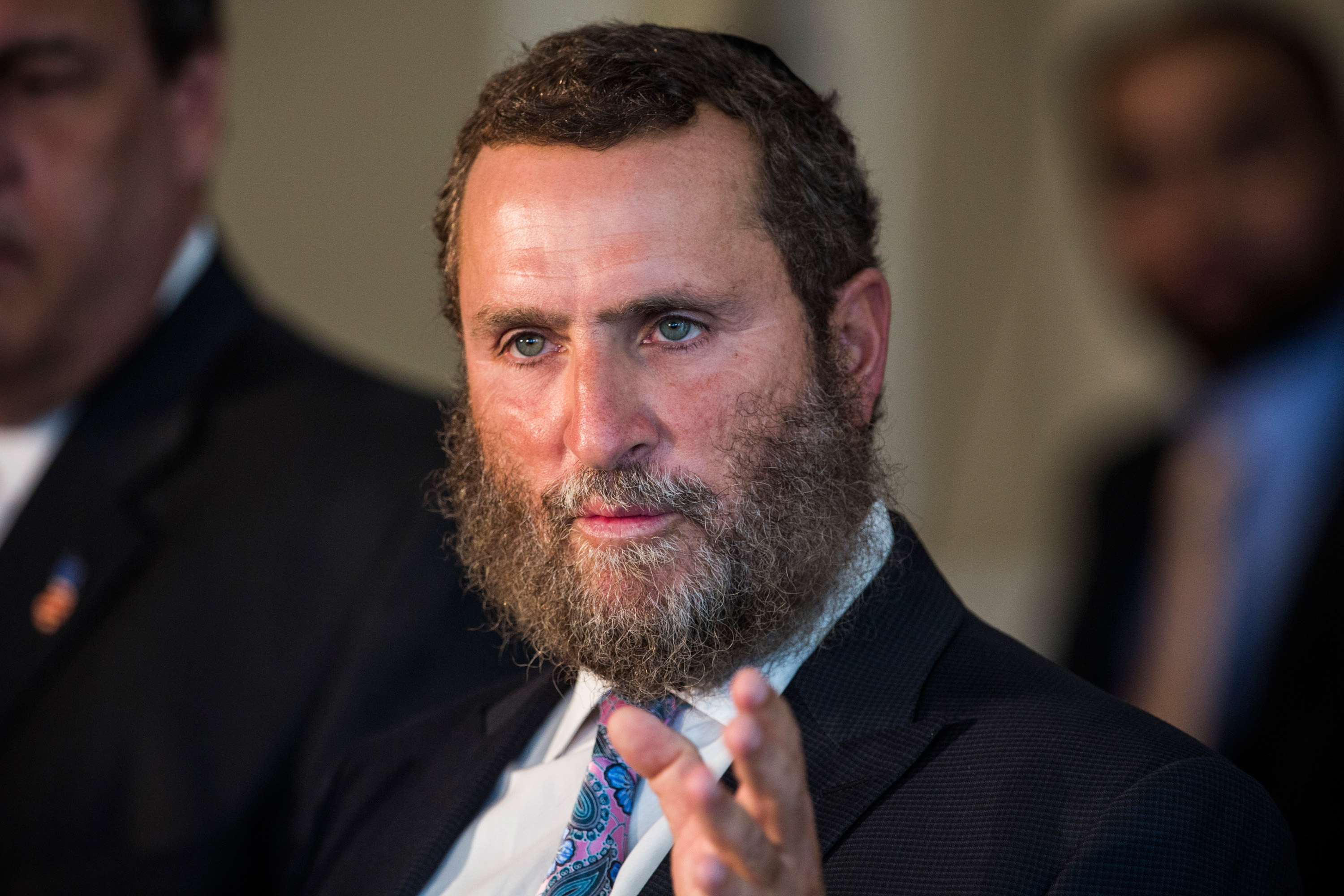 Rabbi Shmuley Boteach at Chabad House at Rutgers University in New Jersey on Aug. 25, 2015. (Andrew Burton/Getty Images)