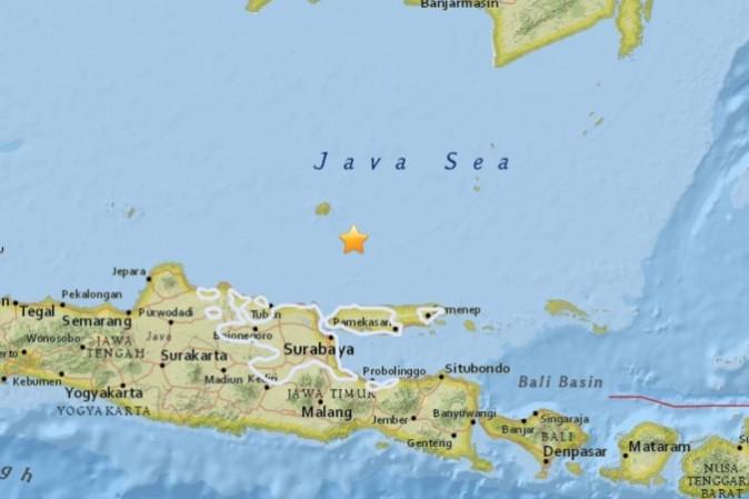 The quake that hit Indonesia (USGS)