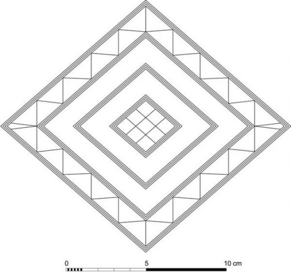 Design of the the Bush Barrow Lozenge, Bronze Age. (Public domain)