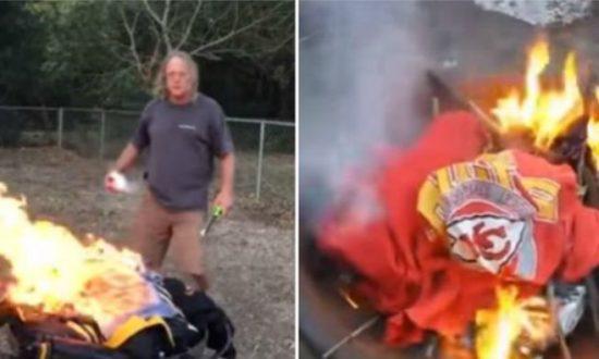 burning jersey