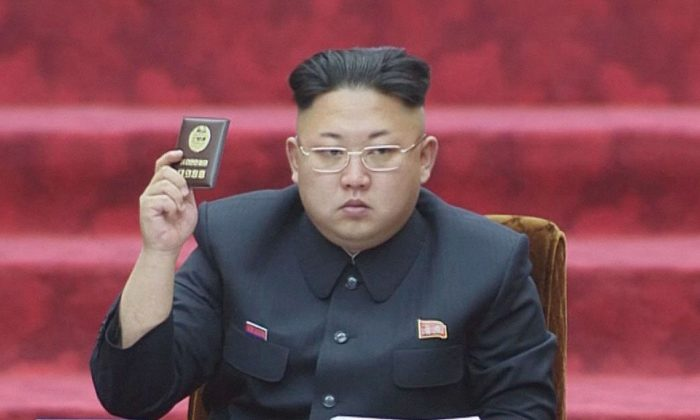 North Korean dictator Kim Jong-Un in this undated photo released by state media.