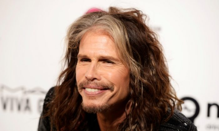 FILE PHOTO: Musician Steven Tyler arrives at the Elton John AIDS Foundation Academy Awards Viewing Party in West Hollywood, California February 28, 2016. REUTERS/Gus Ruelas/File Photo